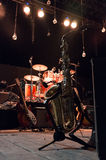 Saxofoon & Muzikale bandinstrumenten stock foto