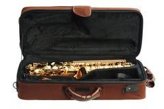 Saxofoon in Open Geval Royalty-vrije Stock Foto