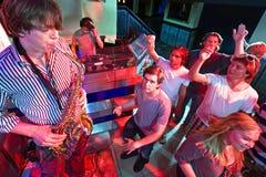 Saxofoon solo royalty-vrije stock afbeelding