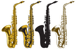 Saxofoons stock illustratie