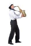 Saxofoonspeler Stock Fotografie