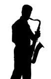Saxofoonspeler Royalty-vrije Stock Foto