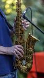 Saxofoonspeler Royalty-vrije Stock Afbeelding