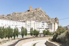 Saxofoonstad en het kasteel Stock Afbeelding