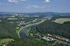 saxon Швейцария реки PA elbe Германии национальный Стоковые Изображения