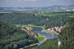 saxon Швейцария реки PA elbe Германии национальный Стоковые Изображения RF