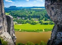 Saxon Швейцария Стоковая Фотография