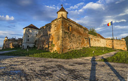 Saxon Brasov fortress, Transylvania Romania royalty free stock photos