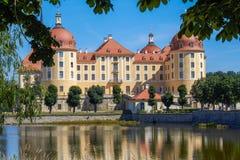 The Saxon castle Moritzburg stock image