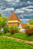 Saxon church at Bradeni Stock Photography
