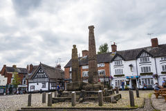 The Saxon Crosses on the Market Square of Sandbach Royalty Free Stock Image