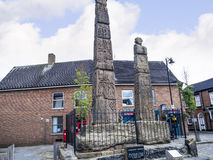 Saxon Crosses in the Picturesque Town of Sandbach in South Cheshire England Stock Photography