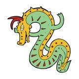 Saxon dragon cartoon Stock Images