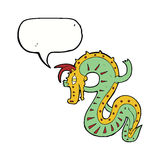 saxon dragon cartoon with speech bubble Stock Photos
