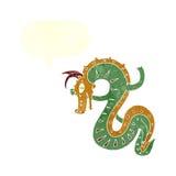 saxon dragon cartoon with speech bubble Royalty Free Stock Photos