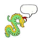 saxon dragon cartoon with speech bubble Stock Image