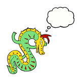 Saxon dragon cartoon with thought bubble Stock Image