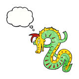 Saxon dragon cartoon with thought bubble Royalty Free Stock Image