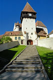 Saxon fortress and church Royalty Free Stock Image