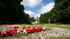 The Saxon Garden. Is a public garden in central Warsaw, Poland, facing Piłsudski Square. It is the oldest public park in the city Royalty Free Stock Photography