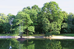 Saxon Garden - public park in the city center of Warsaw, Poland Royalty Free Stock Image