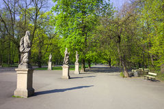Saxon Garden in Warsaw Stock Photos