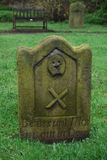 Saxon gravestone Royalty Free Stock Images