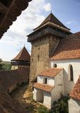 Saxon ha fortificato la chiesa immagini stock