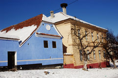Saxon houses in Viscri, Transylvania, Romania Stock Photo