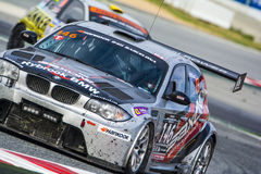Saxon Motorsport Team. BMW 135D. 24 hours of Barcelona Royalty Free Stock Photography