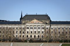 Saxon State Ministry of Finance in Dresden. Germany Royalty Free Stock Photos