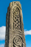 Saxon Stone Cross. Anglo-Saxon stone monument in Bakewell church yard Royalty Free Stock Images
