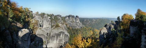 The Saxon Switzerland in autumn royalty free stock images