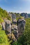 Saxon Switzerland National Park - Bastei, Germany Royalty Free Stock Images