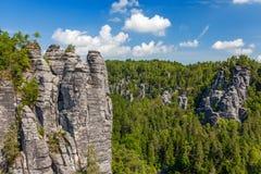 Saxon Switzerland National Park - Bastei, Germany Stock Image