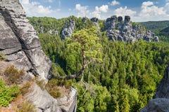 Saxon Switzerland National Park - Bastei, Germany Royalty Free Stock Photo