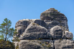 Saxon Switzerland National Park - Bastei, Germany Royalty Free Stock Image