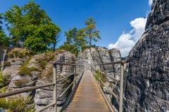 Saxon Switzerland National Park - Bastei, Germany Stock Images