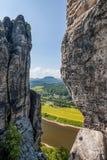 Saxon Switzerland National Park - Bastei, Germany Stock Photos