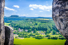 Saxon Switzerland natural reserve Royalty Free Stock Images