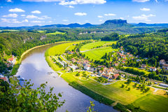 Saxon Switzerland natural reserve near Dresden Stock Image