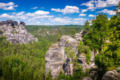 Saxon Switzerland natural reserve near Dresden Stock Images