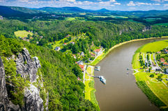 Saxon Switzerland natural reserve near Dresden Stock Photo