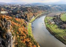 Saxon Switzerland view from Bastei Royalty Free Stock Image