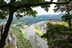 Saxon Switzerland. View of the Elbe near Rathen Royalty Free Stock Image