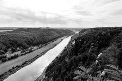 Saxon Switzerland. View of the Elbe near Rathen Stock Photography