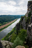 Saxon Switzerland. View of the Elbe near Rathen Royalty Free Stock Images