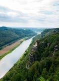 Saxon Switzerland. View of the Elbe near Rathen Stock Images