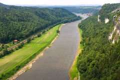 Saxon Switzerland. View of the Elbe. Royalty Free Stock Image