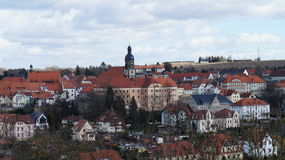 Saxon town in the Eastern Ore Mountains Royalty Free Stock Photography